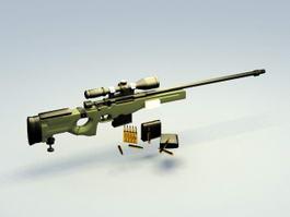AWM Sniper Rifle 3d preview