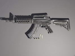 M4 Carbine and Bullets 3d model