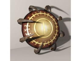 Demon Shield 3d model