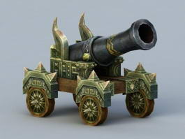 Vintage Cannon Weapon 3d model