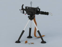 Modern Gatling Gun 3d model