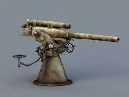 Air Defense Artillery Weapon 3d model