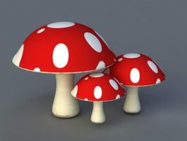 Cartoon Red Mushroom 3d model
