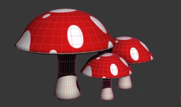 Cartoon Red Mushroom 3d Model 3ds Max Files Free Download