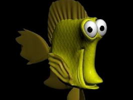 Cartoon Tropical Fish 3d model