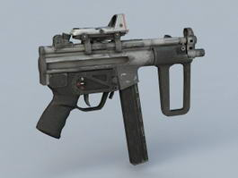 Submachine Gun Weapon 3d model