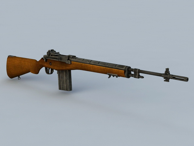 M1941 Johnson Rifle 3d Model 3ds Max Files Free Download