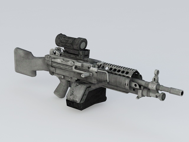 M249 Machine Gun 3d rendering