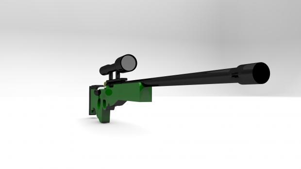 AWM Sniper Rifle 3d model