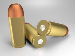 Pistol Bullets 3d model