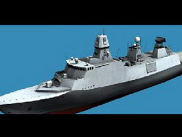 Iver Huitfeldt-Class Frigate 3d model
