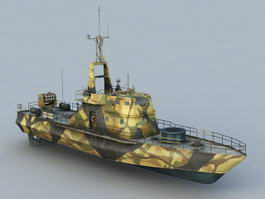 Crocodile Gunboat 3d model