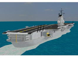 Essex-class Aircraft Carrier 3d model