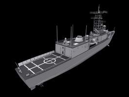 Navy Warship 3d model