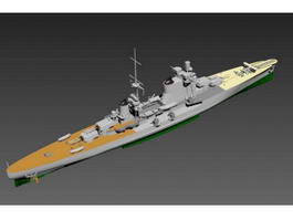 Navy Destroyer Ship 3d model