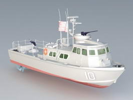 US Navy Swift Patrol Boat 3d model
