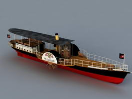 Paddle Steamer 3d model