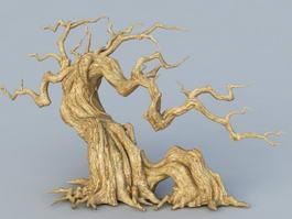 Old Withered Tree 3d model