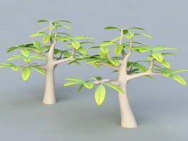 Small Cartoon Tree 3d model