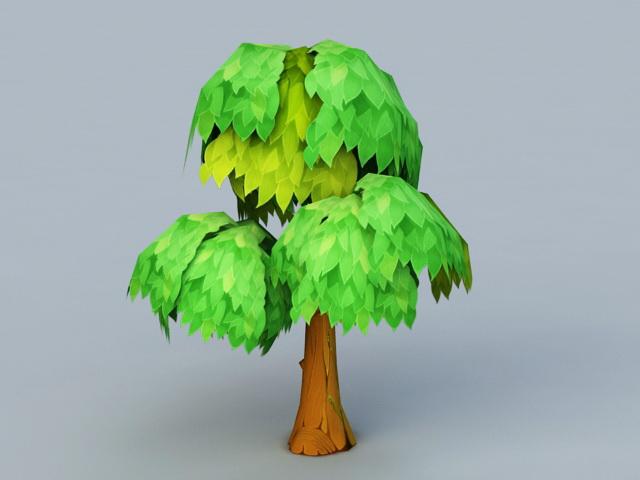 Anime Tree 3d model