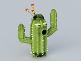 Cartoon Cactus 3d model