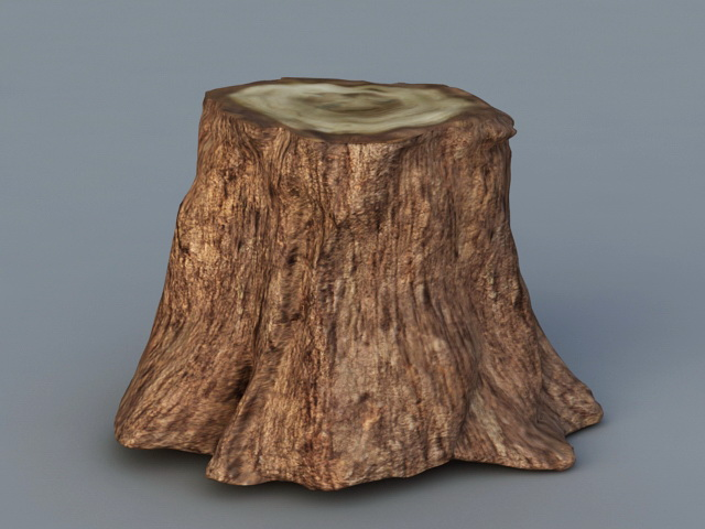 Tree Trunk Stump 3d Model 3ds Max Files Free Download