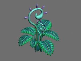Anime Fern Plant 3d model