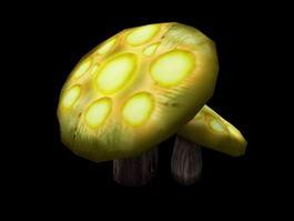 Anime Mushroom 3d model