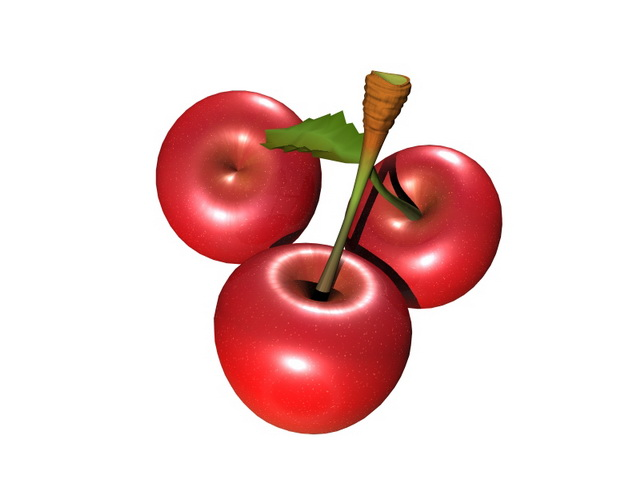 Sweet Cherries 3d Model Maya Files Free Download