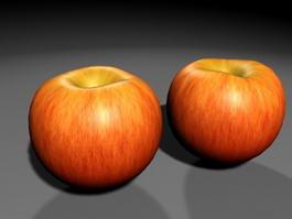 Red Apple Fruit 3d model