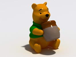 Cartoon Bear Statue 3d model
