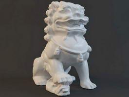 Guardian Lion Statue 3d model