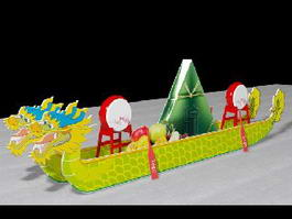 Dragon Boat 3d model