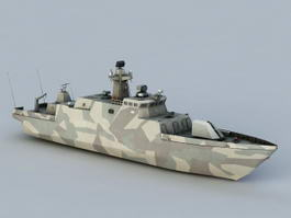 Hamina-class Missile Boat 3d model