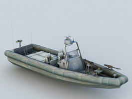 Small Patrol Boat 3d model