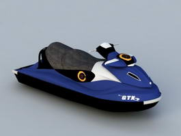 Water Scooter Jetski 3d model