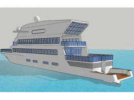 Chris Yacht 3d model