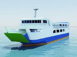 Ferry Boat 3d model