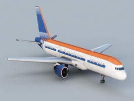 Classic Jet Airliner 3d model