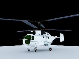 Soviet Navy Ka-27 Helicopter 3d model