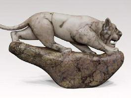 Stone Tiger Statue 3d model