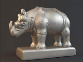 Rhino Statue 3d model