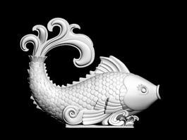 Fish Statue 3d model