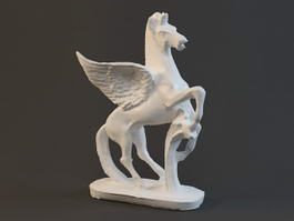 Pegasus Greek Mythological Statue 3d model