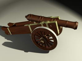 Pirate Cannon 3d model