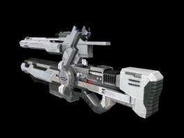 Animated Sci-Fi Gun 3d model