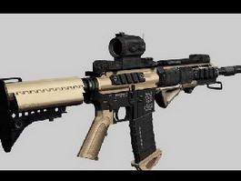 AR-15 Assault Rifle 3d model