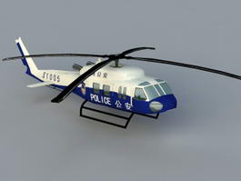 China Police Helicopter 3d model