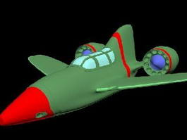 Cartoon Airplane 3d model