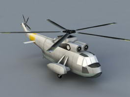 Amphibious Helicopter 3d model